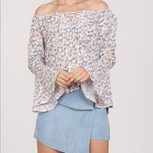 Tops - Bell sleeve off the shoulder top